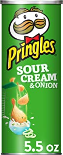 Pringles Potato Crisps - Sour Cream and Onion Flavored, 5.5 oz Can