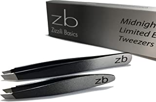 Zizzili Basics Tweezer Set - Limited Edition Ombre - Classic + Mini Slant - Best Tweezers for Eyebrow, Facial Hair Removal and your Precision Needs - The Perfect Gift!