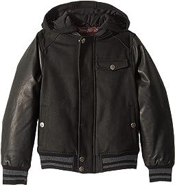 Presley Wool Varsity Jacket w/ Faux Leather Sleeves (Little Kids/Big Kids)