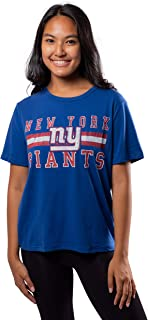 Ultra Game NFL Womens Distressed Graphics Soft Crew Neck Tee Shirt