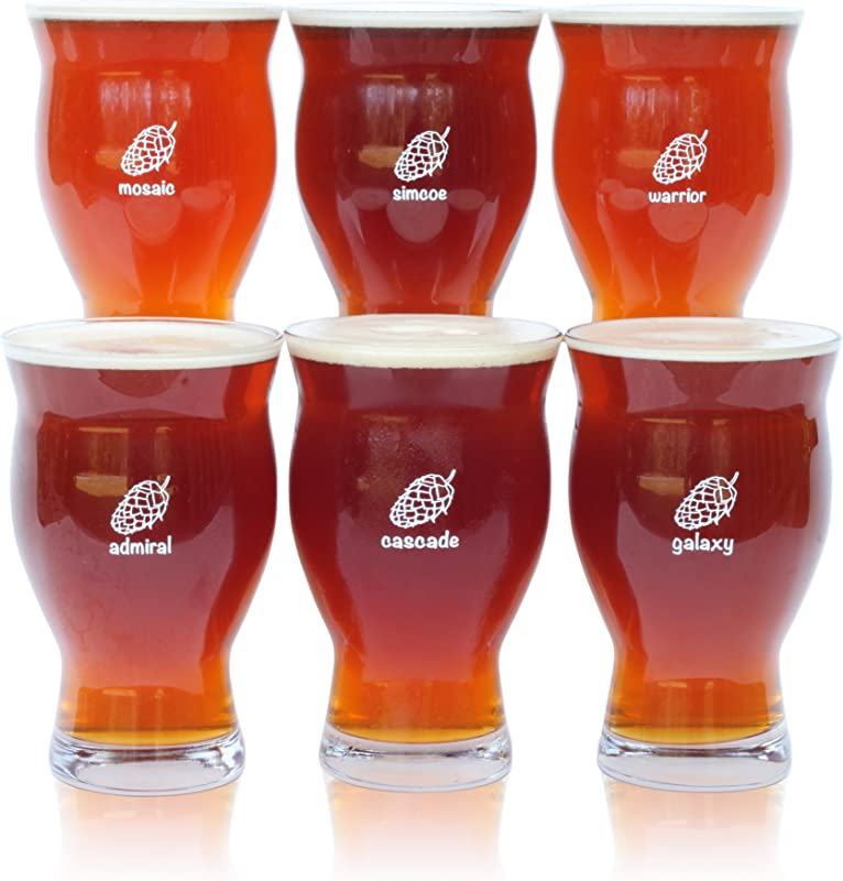 Six 6 Pack Of Ultimate Pint Glasses 6 Individually Labeled Glasses Perfect For A Party