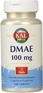 KAL DMAE Tablets, 100 mg, 100 Count