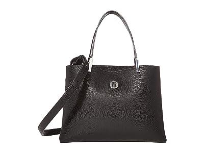 Tommy Hilfiger Core Medium Satchel (Black) Satchel Handbags