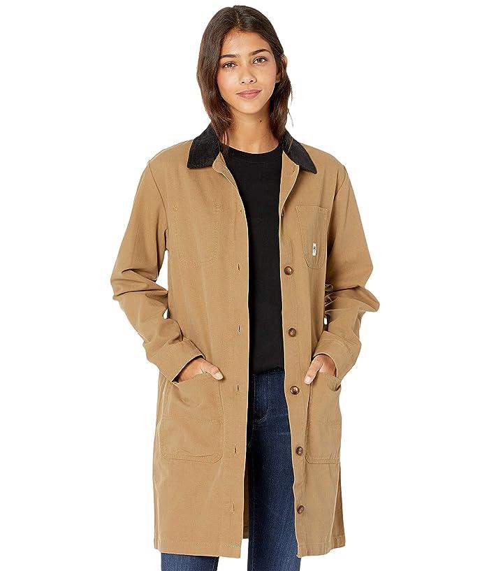 Victorian Jacket, Coat, Ladies Suits   Edwardian, 1910s, WWI Vans Drill Long Chore Jacket Dirt Womens Clothing $47.99 AT vintagedancer.com
