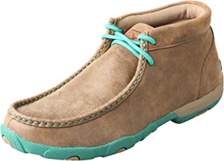Twisted X Driving Loafers, Women's Driving Mocs - Bomber/Turquoise