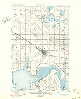 North Dakota Maps - 1931 Devils Lake, ND USGS Historical Topographic Map - Cartography Wall Art - 44in x 55in