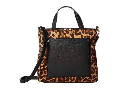 SOLE / SOCIETY Cora Mini Tote (Black Leopard) Handbags