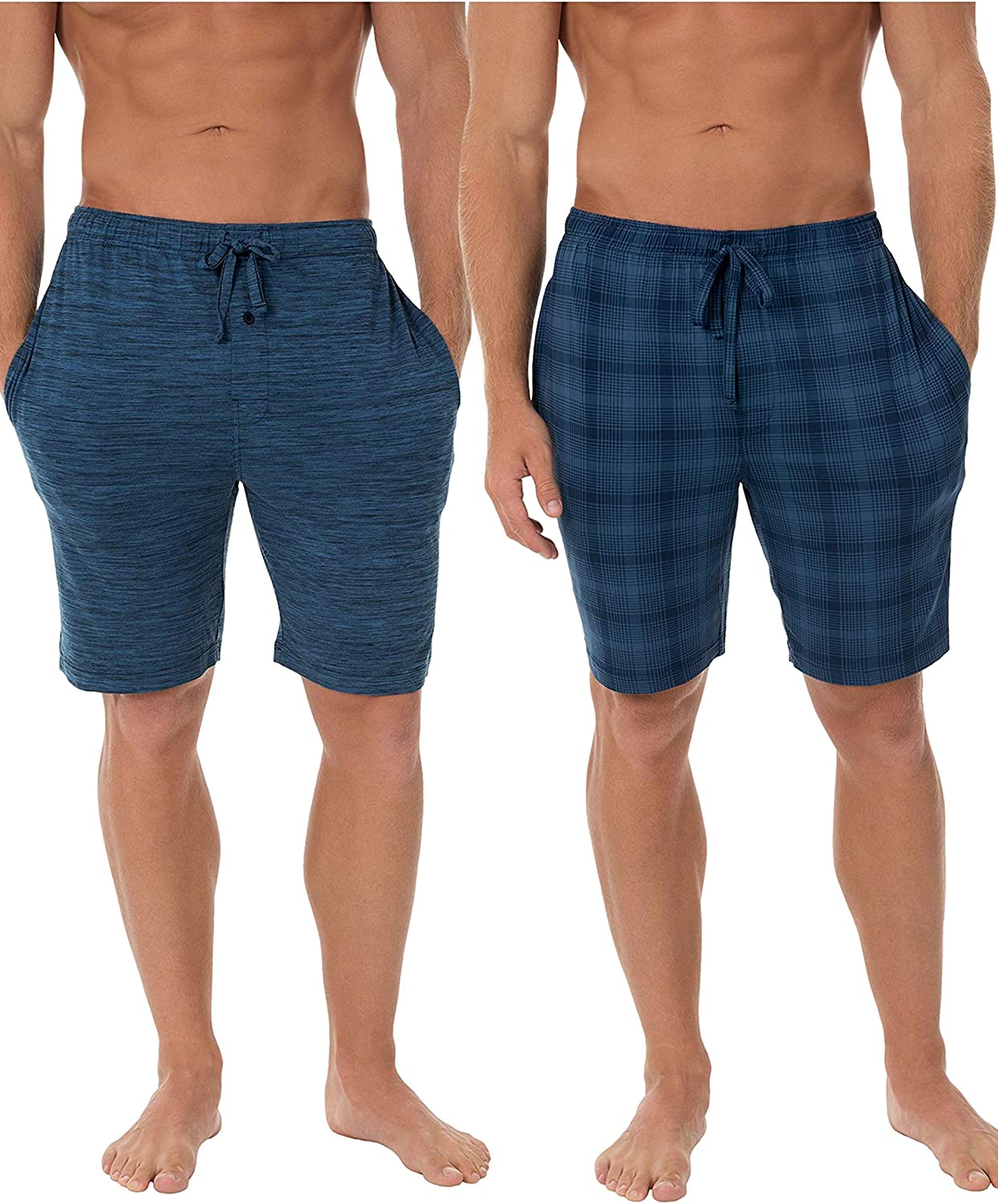 Fruit of the Loom Men's Knit Performance 2 Pack Soft Touch Wicking Sleep Short