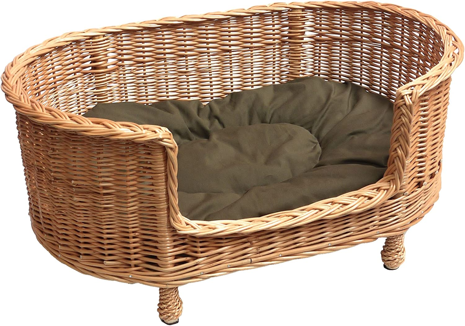 L-A Creation French Artisan Soft cushion basket for cat or small dog 405060 cm