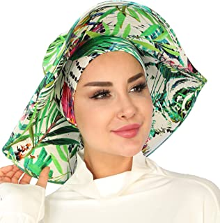 Womens Wide Brim Summer Bonnet-Hat (Cotton)