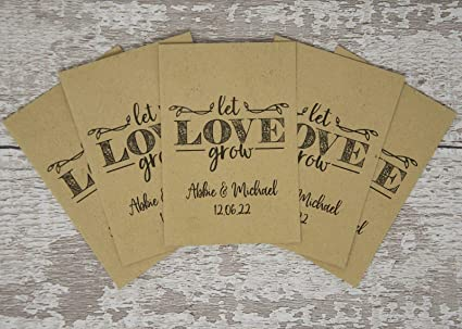 let love grow seed envelopes Personalized seed packets 12 packets