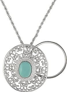 Charmed Life Magnifier Necklace | 5X Zoom Glass Lens | 27.94 mm Diameter | Elegant Design | Adjustable 30 inch Chain | Sedona