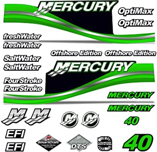 AMR Racing Outboard Engine Motor Sticker Decal Graphics kit for Mercury 40 - Green