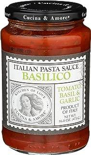 Cucina & Amore Italian Pasta Sauce Basilico Tomato, Basil & Garlic -- 16.8 oz