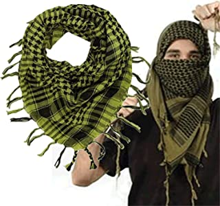 100% Cotton Thick Muslim Shemagh Tactical Desert Arabic Scarf Arab Scarves Men Winter Military Windproof Scarf