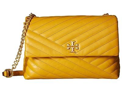 Tory Burch Kira Chevron Flap Shoulder Bag (Daylily) Handbags