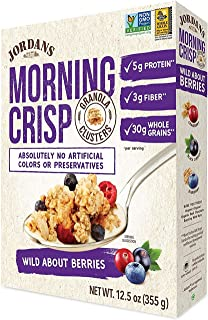 Jordans Morning Crisp Granola Clusters, Wild About Berries (Pack of 6)