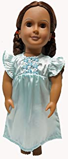 Doll Clothes Superstore Turquoise Satin Nightgown for 18 Inch Girl Dolls Like American Girl