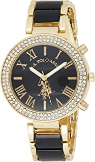 U.S. Polo Assn. Women's Quartz Watch, Analog Display and Gold Plated Strap USC40061