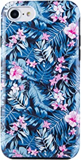 Dimaka Case for iPhone 7 Case for Girls, iPhone 8 Case, Flower Pattern Print Case with Fashion Design, Cute Cover for iPhone 7 and iPhone 8 (Night Blue Floral)