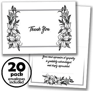 20 张有趣的感谢卡 - Whatabee 内部信封说明和同情感谢信息