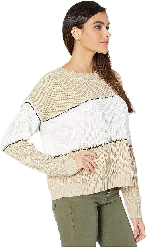 Modern Beige/White/Black Stripe