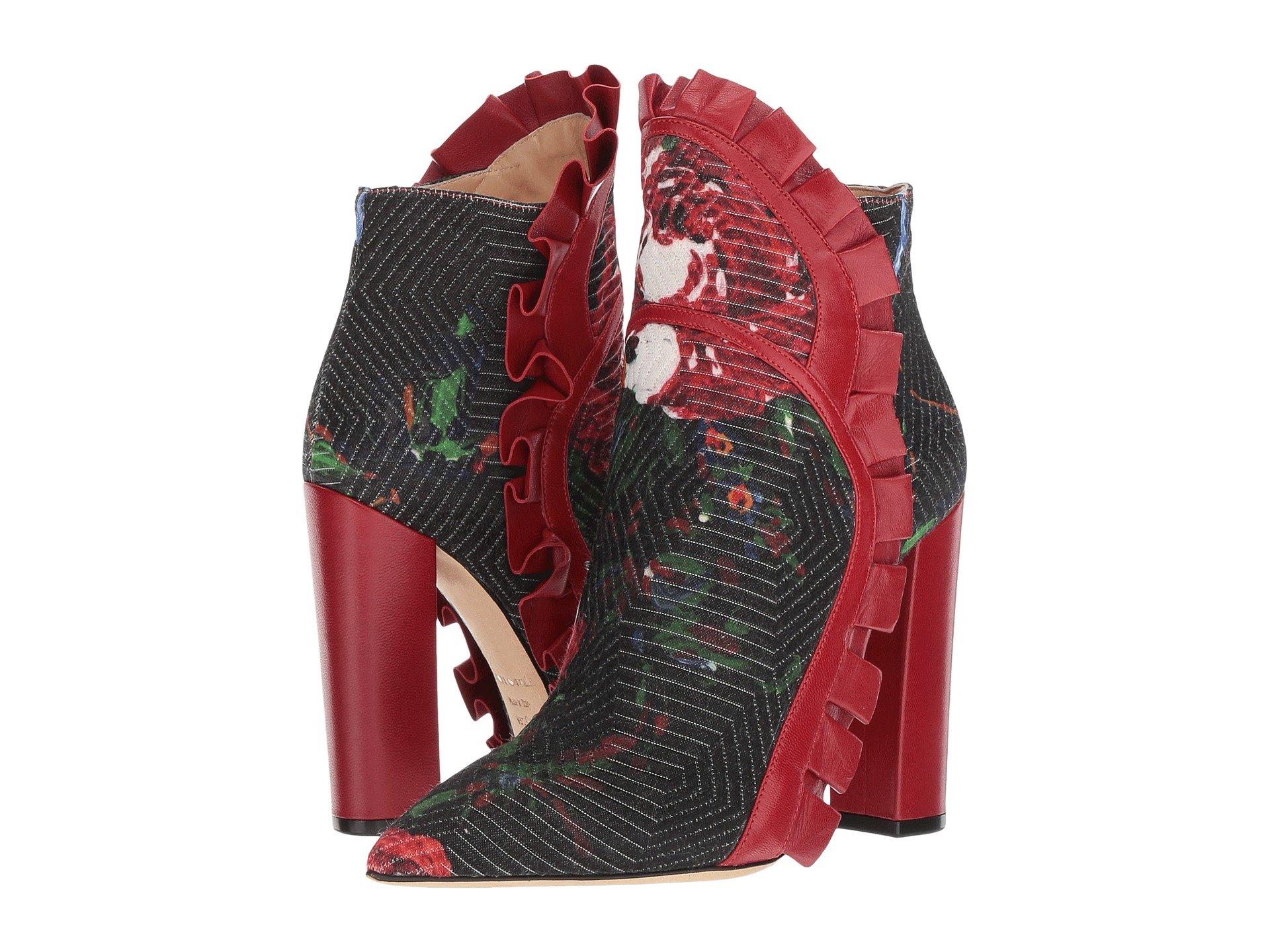 Racine Carrée Vivian Flare Ruffle Ankle Boot D65XhX