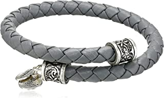 Alex and Ani Vintage 66 Road to Romance Braided-Leather Wrap Bracelet