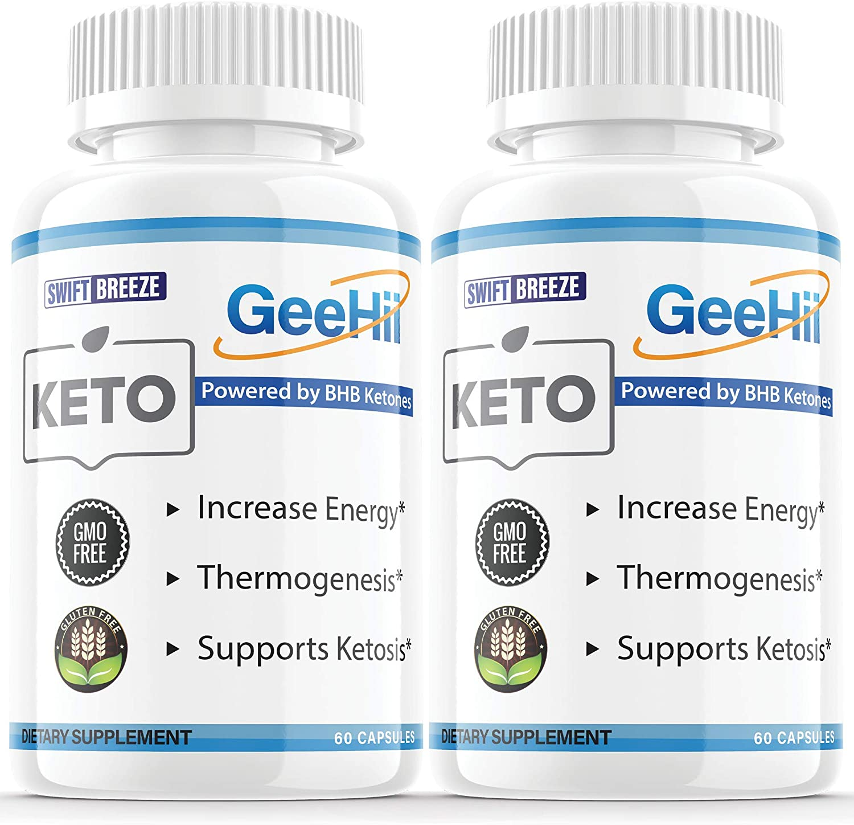 Cheap sale 2 Pack GeeHii Brain Keto Pills Slim Ketones Suppleme GeHii online shopping BHB