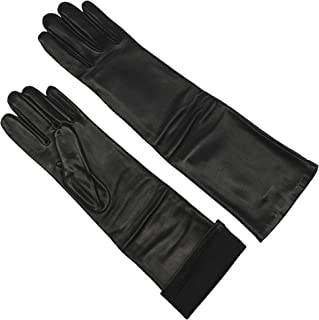 grey leather opera gloves