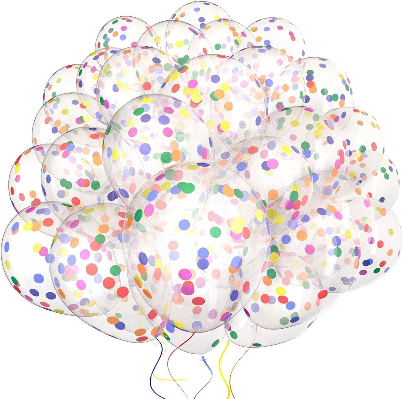 Confetti Rainbow Balloons