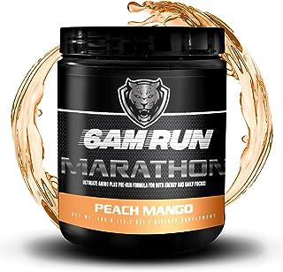 6AM RUN Marathon Run - Pre Workout Powder for Running & Essential Amino Energy Powder - Pre Workout No Jitters - Keto Pre ...