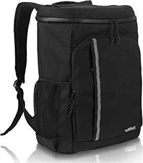 RMS Cooler Backpack - Insulated Soft Sided Cooler Bag for Men or Women - Fits Up to 28 Cans - Leak Proof & Water Resistant Picnic Backpacks for Camping, Hiking, Picnics & Everyday Activities (Black)