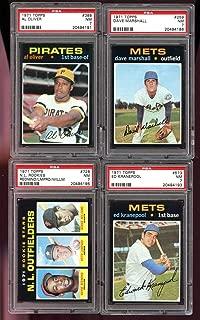 1971 Topps #728 N.L. Rookie Stars Outfielders Bernie Williams Redmond PSA 7 - Baseball Cards