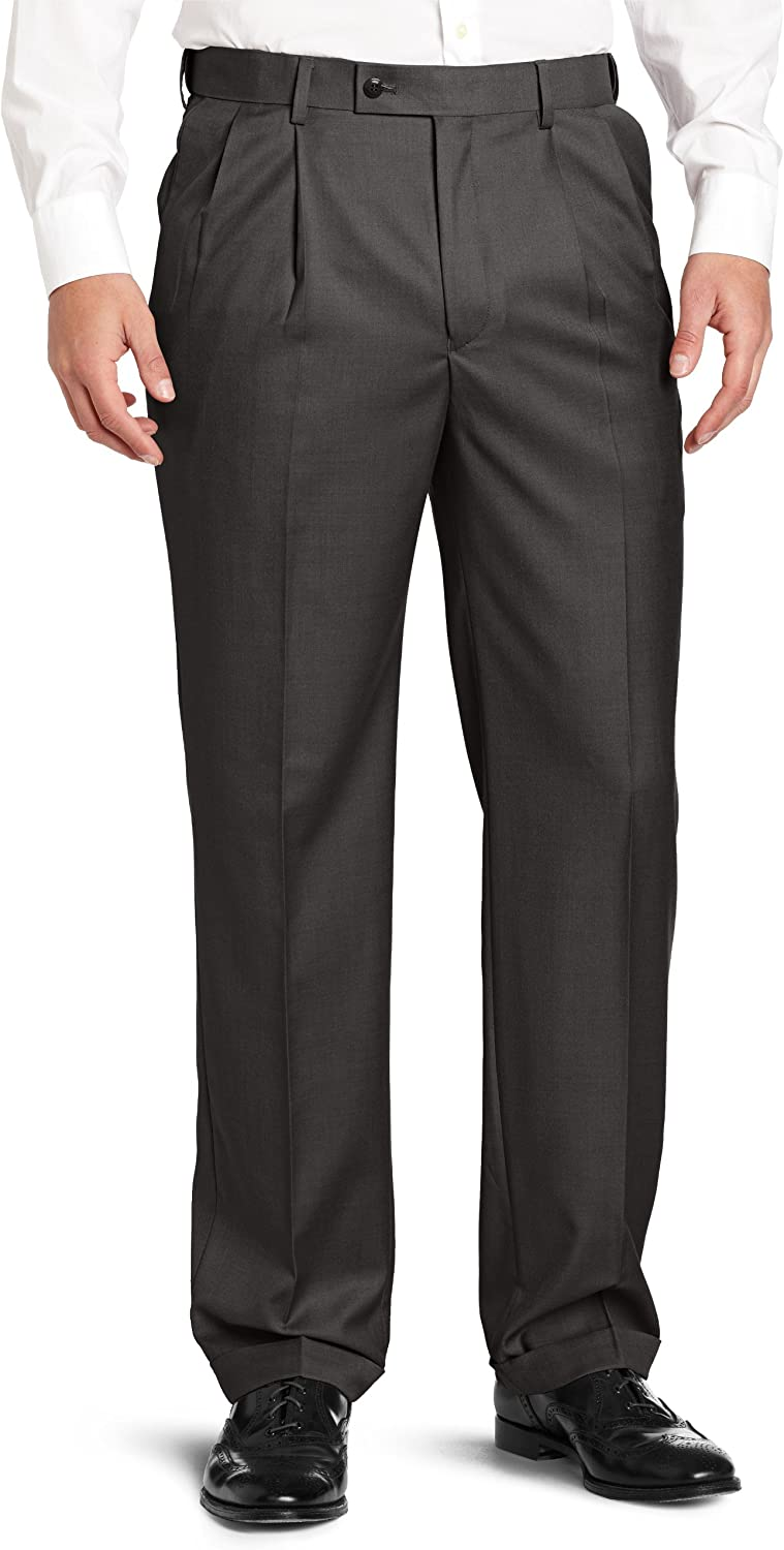 Louis Same day shipping Raphael ROSSO Men's All items in the store Super 150 Dress Twill Pant wit Pleated
