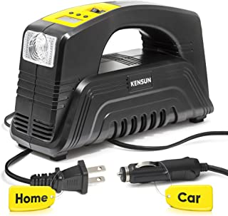 Kensun AC/DC Rapid Performance Portable Air Compressor Tire Inflator with Digital Display for Home