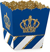 Royal Prince Charming - Party Mini Favor Boxes - Baby Shower or Birthday Party Treat Candy Boxes – Set of 12