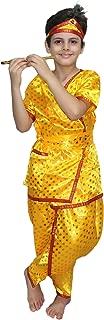 Kaku Fancy Dresses Krishna Costume for Krishnaleela/Janmashtami/Kanha/Mythological Character -Yellow & Red, 7-8 Years, for Boys