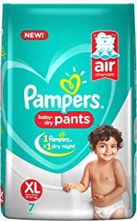 Pampers New Diapers Pants, X-Large, XL 7 Count