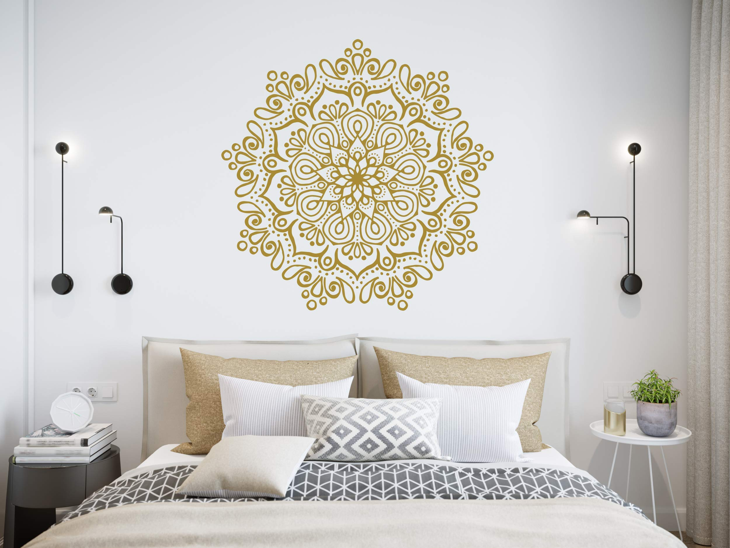 Mandala Wall Stickers | Mandala Lotus Decal | Removable vinyl decal | Made in Poland | Oracal | Wall mural | Mandala Bohemian Wall Art | C698