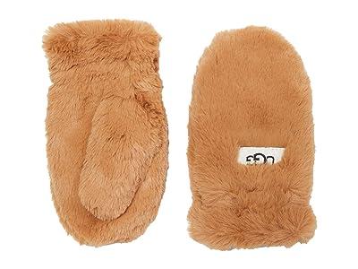 UGG Kids Faux Fur Mittens (Toddler/Little Kids) (Caramel) Extreme Cold Weather Gloves
