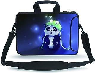 """RUYIDAY 11-13.3"""" 14-15.6"""" Neoprene Sleeve Notebook Messenger Case Tote Bag"""