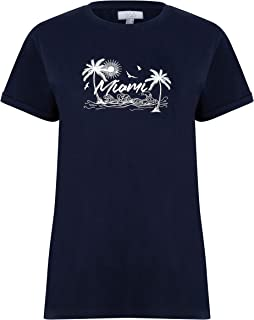 NOROZE Women's T-Shirt Round Neck Short Sleeve Tops Fashion Print Blouses Summer Dress Tee Shirt