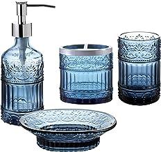 Amazon Com Navy Blue Bathroom Accessories