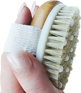 Anti Cellulite Dry Brushing Body Brush With Detachable Long Handle. Effective Treatment Alternative to Cellulite Removal Rollers, Fat Burning Massagers Celulite Oils and Creams. Natural Boar Bristles