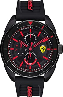 Ferrari Mens Quartz Watch, Chronograph Display and Silicone Strap 830547