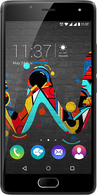 Wiko U FEEL Smartphone (12,7 cm (5 Zoll) HD IPSDisplay, FingerabdruckSensor, 16 GB interner Speicher, Android 6 Marshmallow) space grey