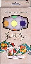 Painterly Days: 18 Watercolors & Paintbrush
