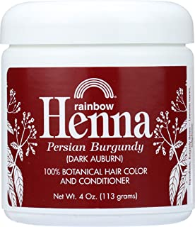 Rainbow Research Henna Hair Color and Conditioner, Persian Burgundy Dark Auburn, 4 Ounce