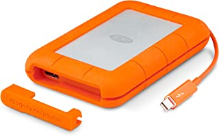 LaCie Rugged Thunderbolt USB 3.0 2TB External Hard Drive Portable HDD (STEV1000400)